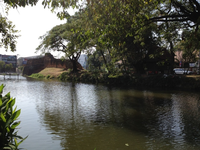 Chiang Mai old city wall and moat