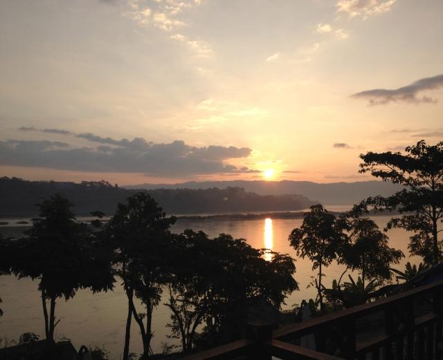 Sunrise over Mekong River, Thailand