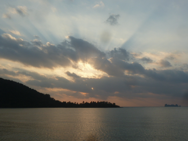 Sunrise over the Gulf of Thailand, Chumphon