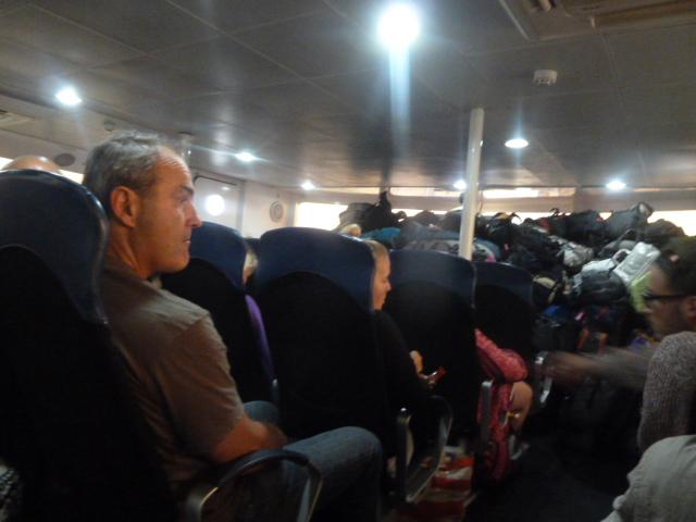 Rough ferry ride