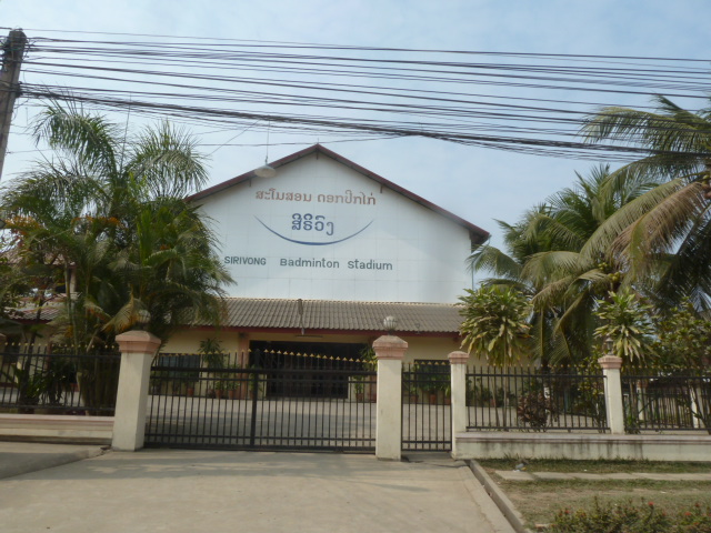 A stadium just for badminton?! Luang Prabang, Laos