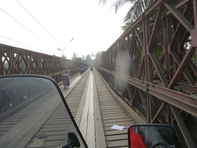 motorcycle bridge, Luang Prabang, Laos