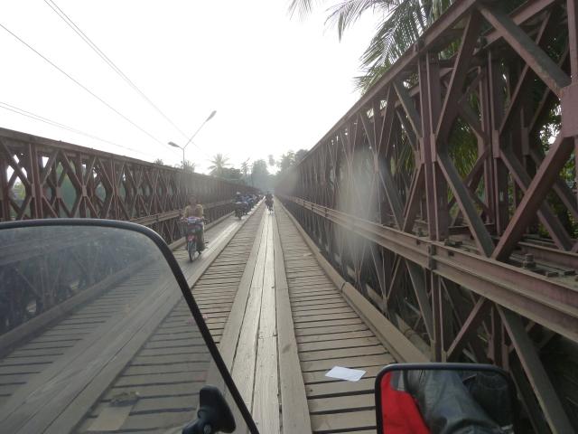 motorcycle bridge, Luang Prabang, Laos