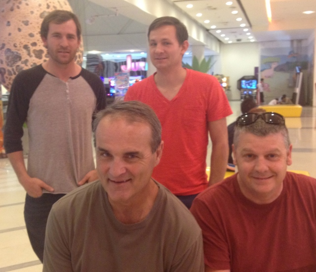 Matt, Jake, Kevin and Scott - Khon Kaen, Thailand
