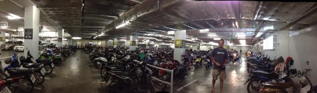 Motorcycle parking, Chiang Mai, Thailand