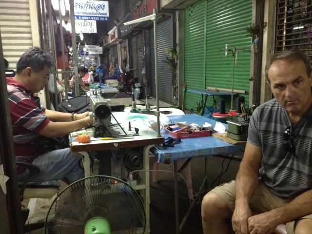 having some mending done, Bangkok